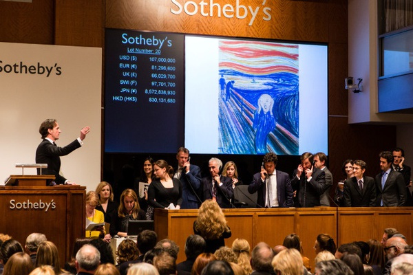 An Auction at Sotheby's, Photo Courtesy of Art Market Talks