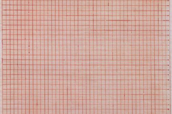 Detail of Untitled Agnes Martin Painting